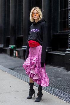 New York Fashion Week Street Style Spring 2018 | StyleCaster