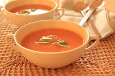As Minhas Receitas: Sopa de Courgete e Tomate