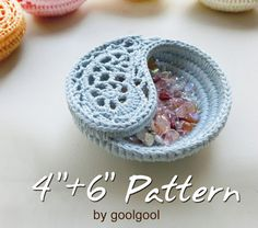 2 Patterns Bundle Yin Yang Jewelry Dish 46. Discount by goolgool