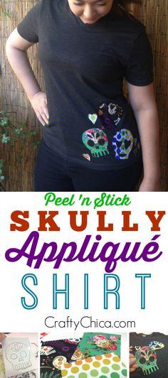 Skully Appliqué Shirt