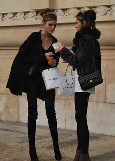 Chanel & models ... (credits) repinned by Jourdan Dunn on 'Hottest of the Honey Pot' click pic to follow more content like this ♥'all