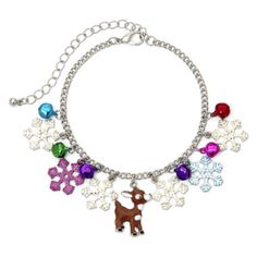 Bought a month ago and adorable! Wish it was in sterling though! Licensed Rankin/Bass too! Silver tone flakes, put him on a jumpring and wear as a pendant or add to a bracelet! Silver-Tone Rudolph the Reindeer Christmas Charm Bracelet  found at @JCPenney