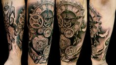 Best Awesome clock tattoo design idea. Description from pinterest.com. I searched for this on bing.com/images