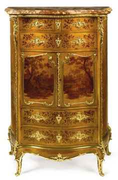 Joseph-Émmanuel Zwienerfl. circa 1875-1900A Louis XV style gilt-bronze mounted vernis Martin decorated side cabinetParis, late 19th century | Lot | Sotheby's