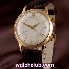Jaeger-leCoultre Memovox Vintage - Rose Gold REF: 0000 | Year 1960 xceptional 1960's example of Jaeger's other great historical watch, the Memovox mechanical alarm in 18ct rose gold. First launched in 1950, and still in production to this day, the Memovox, in the words of Jaeger LeCoultre, 'quickly became the watch of excellence for men-about-town'. Very few of these classic watches were produced in rose gold making this particular slice of Jaeger LeCoultre's history a real treasure.