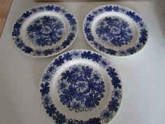 "Vintage 1970s, Arabia Finland ""sinikukka""... Finland, Mid-century Modern, 1970s, Decorative Plates, Mid Century, Vintage, Design, Home Decor, Decoration Home"