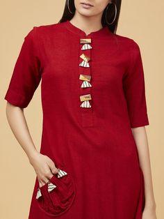 Latest kurti designs for stitching Plain Kurti Designs, Salwar Neck Designs, Simple Kurti Designs, New Kurti Designs, Kurta Neck Design, Dress Neck Designs, Kurta Designs Women, Kurti Designs Party Wear, Blouse Designs