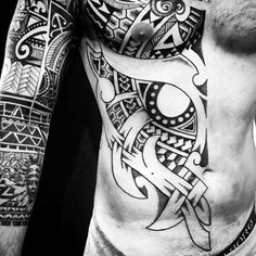 Astounding Black Norse Tattoo Mens Sleeves And Torso