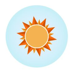 Flat Sun Icon - 8th Project by Hokuao G.