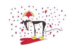A4 Impresión lloviendo corazones Nellie por NellieDoodles en Etsy