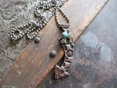 Rustic Metal Necklace by Ataggirl Creations available at BuckarooBay.com