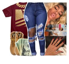 """""""Digits~Young Thug"""" by daeethakidd ❤ liked on Polyvore featuring NIKE and Seaman Schepps"""