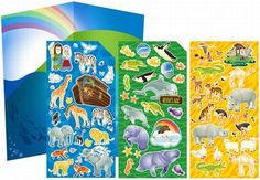 Children will have arkloads of fun with our 3-sheet Noah's Ark sticker set. Over 75 stickers for your kids to play with! It's fun AND it helps kids learn the story of Noah's Ark. #GiftIdeas #BibleStories #GiftsforKids