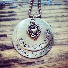 Custom family name necklace/ Mom's necklace by FaithMetal on Etsy, $25.00
