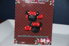 Pair of Minnie Mouse Sequin Mouse Heads with by lilibirdbowtique, $8.49