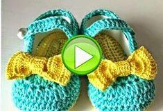 Como tejer zapatitos de bebe paso a paso