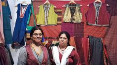 Manju Shete (left) and Sujata Thorat: By taking inspiration from gypsies, gamcha weavers and rural craftspeople who are the real custodians of age-old handicraft traditions, a few designers at Srishti 2014 in Coimbatore have also breathed new life into their lives.