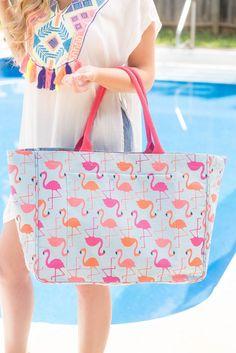 Cute Flamingo Tote- Fun Beach Tote- $28- Affordable Online Boutique