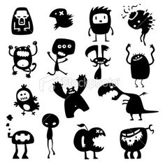 funny monsters Royalty Free Stock Vector Art Illustration