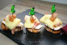 Tosta de pollo, bacon , queso y membrillo El Ágora de Ángeles