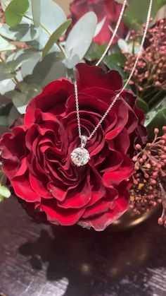 A stunning diamond pendant designed for our customer just in the time of Valentine's Day 😉💕 Valentine Special, Valentines, 77 Diamonds, Bespoke Jewellery, Pendant Design, Diamond Bracelets, Diamond Pendant, Red Roses, Belly Button Rings