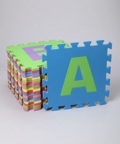Love this Alphabet Puzzle Play Mat by Edushape on #zulily! #zulilyfinds