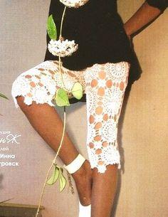 Patrones Crochet: Pantalones Capri de Crochet Patron. pantalones de crochet