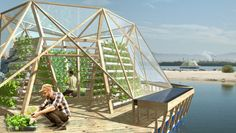 Floating, Water-Purifying Greenhouse