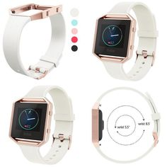 White Fitbit Blaze Sports Strap Silicone Slim Replacement Accessories Women Men for sale online Smart Watch, Fitbit, Women Accessories, Slim, My Style, Sports, Ebay, White People, Hs Sports