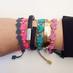 love these string bracelets for a colorful stack.