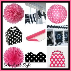hot pink black classroom decor theme by Schoolgirl Style www.schoolgirlstyle.com