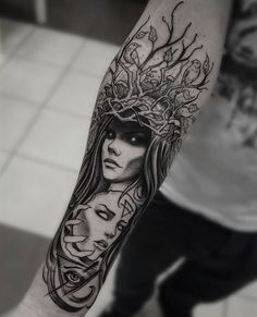 Witch Tattoo, Medusa Tattoo, Piercing Tattoo, Piercings, Gothic Tattoo, Dark Tattoo, Forearm Tattoos, Body Art Tattoos, Tatoos