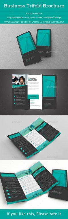 Business Trifold Brochure Template #design Download: http://graphicriver.net/item/business-trifold-brochure/11735680?ref=ksioks