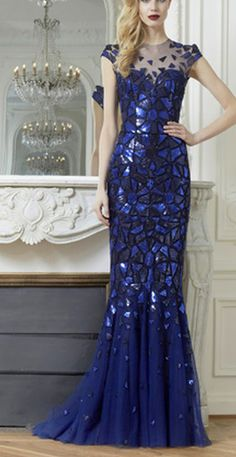 Zuhair Murad beautiful royal blue gown