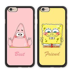 Sponge bob Best Friend cases for iPhone or Galaxy, Patrick and Spongebob, BFF iPhone case Samsung Galaxy case, Two Case Set Iphone 5c, Bff Iphone Cases, Coque Iphone 5s, Bff Cases, Cute Cases, Cute Phone Cases, Ipod Cases, Samsung Cases, Apple Iphone