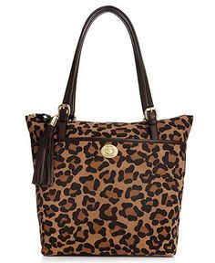 I think I should bring this to the concert. :)   Tommy Hilfiger Handbag, Animal Print Suede Tote - Handbags & Accessories - Macy's