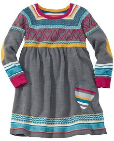 Cozy Up Sweater Dress from #HannaAndersson.  Cutest sweater dress ever!
