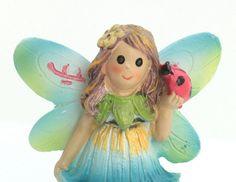 "Fairy - Holding Ladybug  -  2 1/2"" Tall - 207-6180"