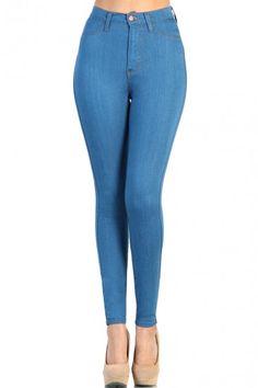 Blue Denim High Waist Jean  #croptops #aztec #lovemelrose #leggings #dress #shorts #highwaisted #highwaistedjeans #jeans #shoes #jewelry #hat #plus #plussize #earrings