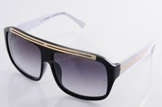 New 2014 New Louis Vuitton Z0355W Black White Grey Sunglasses For Cyber Monday For Wholesale
