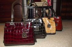Dooney and Burke Croco leather bag...I have the first one ♥