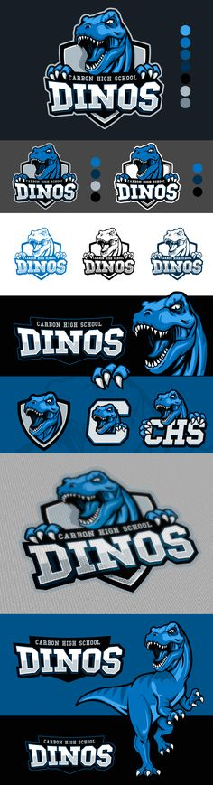 Carbon High School is a traditional high school in Carbon County Utah. The area is best known for coal mining and its many dinosaur fossils. Logo Branding, Branding Design, Team Logo Design, Sport Design, Banners, Inspiration Logo Design, Logo Luxury, Gfx Design, Utah