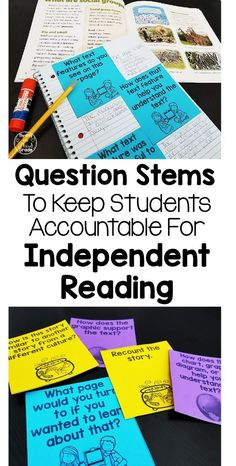There are many uses of reading question stems in the classroom. From independent reading, to teacher directed reading, to supporting parents, these stems are very versatile. Reading Resources, Reading Strategies, Reading Activities, Reading Comprehension, Reading Projects, Comprehension Strategies, Third Grade Reading, Guided Reading, Teaching Reading