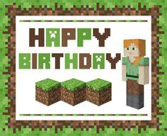 GIRL Alex Minecraft Free Printables | CatchMyParty.com