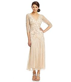 Pisarro Nights FloralBeaded DropWaist Dress #Dillards