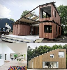 Casa feita de contêineres. Adicionado por ConceptCasa.com.br