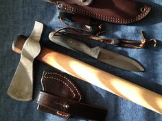 My (Modified) Cold Steel Trail Hawk and Blind Horse Knives Bushcrafter!