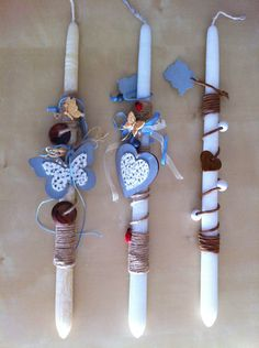 Easter candles I made! Summer Christmas, Holiday, Orthodox Easter, Diy And Crafts, Arts And Crafts, Palm Sunday, Spring Crafts, Easter Crafts, Handicraft