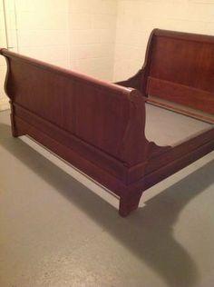 Cherry Sleigh Bed - $100