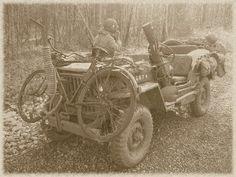 Jeep bike with the 101st Airborne Division, C Company, 1st Batallion/502nd PIR - reenactment